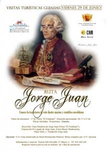 Ayuntamiento de Novelda Turismo-CartelRutaJorgeJuan29Junio-212x300 Turismo organiza una nueva ruta Jorge Juan ante la gran demanda por descubrir al ilustre marino noveldense