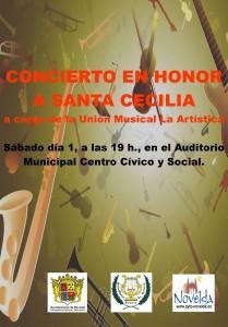 Ayuntamiento de Novelda CARTEL-CONCIERTO-SANTA-CECILIA-JPEG-209x300 Concierto en honor a Santa Cecilia en el Auditorio Municipal Centro Cívico y Social