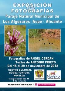 """Ayuntamiento de Novelda CARTEL-EXPOSICION-FOTOGRAFIA-ALGEZARES-214x300 Exposición de fotografías """"Paraje natural Municipal Los Algezares Aspe-Alicante""""."""
