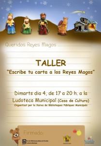 """Ayuntamiento de Novelda CARTEL-TALLER-CARTA-JPEG-209x300 Taller """"Escribe tu carta a los Reyes Magos""""  en la  Ludoteca Municipal (Casa de Cultura)."""