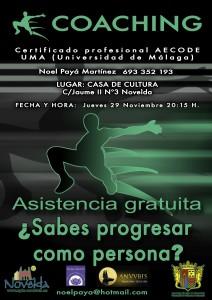 """Ayuntamiento de Novelda Coaching1-212x300 Ponencia dinámica y gratuita sobre Coaching """"¿Sabes progresar como persona?"""" en la Casa de Cultura"""