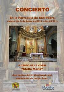 """Ayuntamiento de Novelda 03-01-2013-CARTEL-CONCIERTO-CORAL-JPEG-209x300 Concierto: a cargo de la coral """"Stella Maris"""", en la Parroquia de San Pedro."""