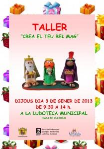 "Ayuntamiento de Novelda 03-01-2013-CARTEL-TALLER-MANUALIDADES-JPEG-209x300 Taller ""Crea tu Rey Mago"", en la  Ludoteca Municipal (Casa de Cultura)."