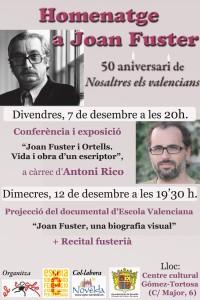 """Ayuntamiento de Novelda CARTEL-JOAN-FUSTER-JPEG-200x300 Conferencia y exposición  """"Joan Fuster i Ortells: Vida i obra d'un escriptor"""", en el Centro Cultural Gómez-Tortosa"""