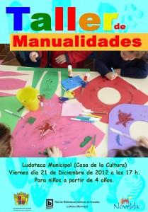 Ayuntamiento de Novelda CARTEL-TALLER-MANUALIDADES-JPEG-209x300 Taller de manualidades, en la Ludoteca Municipal (Casa de la Cultura)