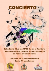Ayuntamiento de Novelda CONCIERTO-15-12-2012-JPEG-209x300 Concierto en honor a Santa Cecilia, en el Auditorio Municipal Centro Cívico y Social.