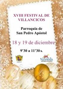 Ayuntamiento de Novelda Cartel-212x300 XVIII FESTIVAL DE VILLANCICOS