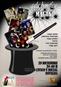 Ayuntamiento de Novelda GALA-MAGIA-212x300 Gala benéfica de Magia, en el Auditorio Municipal Centro Cívico y Social.