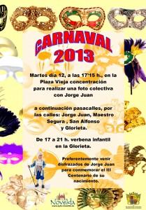 Ayuntamiento de Novelda 12-02-2013-CARTEL-CARNAVAL-1-JPEG-209x300 Carnaval: concentración de disfraces en la Plaza Vieja. A continuación pasacalles y verbena infantil en la Glorieta.
