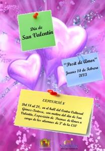 """Ayuntamiento de Novelda 14-02-2013-CARTEL-SAN-VALENTIN-POSIT-DE-AMOR-JPEG-209x300 Con motivo del  día de San Valentín: """"Pósit de Amor"""" en el Centro Cultural Gómez-Tortosa"""