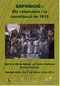 """Ayuntamiento de Novelda cartel-los-valencianos-y-la-constitucion2-209x300 Exposición """"Los Valencianos y la Constitución de 1812 """" Del 5 al 26 de febrero, en el patio del Centro Cultural Gómez-Tortosa."""