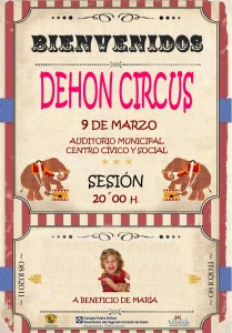"""Ayuntamiento de Novelda CARTEL-CIRCO-JPEG-209x300 A beneficio de María """"Dehon Circus"""", en el Auditorio Municipal Centro Cívico y Social."""
