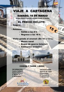 Ayuntamiento de Novelda CARTEL-VIAJE-A-CARTAGENA-JPEG-209x300 Viaje a Cartagena, visita guiada al Arsenal.