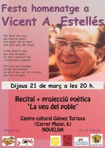"""Ayuntamiento de Novelda cartellestelles-212x300 Recital de poesía """" La veu d'un poble"""" de Vicent Andrés Estellés, en el Centro Cultural Gómez-Tortosa."""