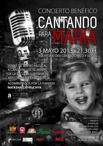 Ayuntamiento de Novelda 03-05-2013-CARTEL-CONCIERTO-PARA-MARIA-JPEG-213x300 Concierto benéfico, cantando para  María, en el Auditorio Municipal Centro Cívico y Social.