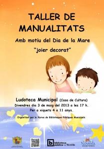 """Ayuntamiento de Novelda 03-05-2013-TALLER-DE-MANUALIDADES-JPEG-209x300 Taller de manualidades, con motivo del día de la madre, """"Joyero decorado"""", en la Ludoteca Municipal (Casa de Cultura)."""