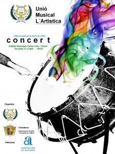 """Ayuntamiento de Novelda 27-04-2013-CARTEL-CONCIERTO-LA-ARTISTICA-224x300 Concierto, interpretado por la Unión Musical """"La Artística"""", en el Auditorio Municipal Centro Cívico y Social."""