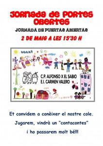 Ayuntamiento de Novelda CARTEL-COLE-JPEG-212x300 Jornada de puertas abiertas, en el Colegio Público Alfonso X el Sabio y en la Escuela Infantil Carmen Valero.