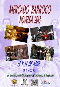 Ayuntamiento de Novelda CARTEL-MERCADO-BARROCO-JPEG-209x300 Mercado Barroco, en conmemoración del III Centenario del nacimiento de Jorge Juan. Ubicado en la Plaza Vieja  y calle Mayor.