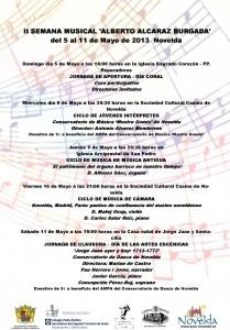 """Ayuntamiento de Novelda 05-05-2013-CARTEL-SEMANA-MUSICAL-ALBERTO-ALCARAZ-JPEG-209x300 II Semana musical """"Alberto Alcaraz Burgada"""" del 5 al 11 de mayo. Novelda."""