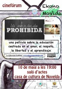 """Ayuntamiento de Novelda 10-05-2013-CARTEL-CINE-FORUM-JPEG-2-209x300 Cinefórum """"La educación prohibida"""", en la Casa de Cultura."""
