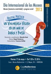 """Ayuntamiento de Novelda 2013-05-17-RECITAL-POETICO-209x300 Recital Poético """"Un violonchelo velero en un mar de danza y poesía"""", en la Casa Museo Modernista."""