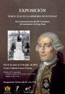 """Ayuntamiento de Novelda 2013-06-21-CARTEL-EXPOSICION-JORGE-JUAN-JPEG-209x300 Exposición  """"Jorge Juan en la memoria de Novelda"""",  en el Centro Cultural Gómez-Tortosa."""