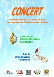 """Ayuntamiento de Novelda 2013-07-19-CONCERT-ARTISTICA-SOLIDARITAT-JPEG-209x300 Concierto, a cargo del Orfeón Noveldense """"Solidaridad"""" y de la Unión Musical """"La Artística"""", en la explanada del Santuario de la Mola."""