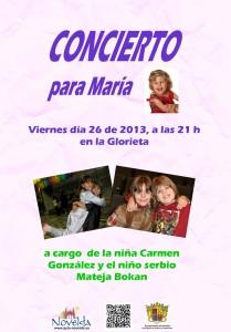 Ayuntamiento de Novelda 2013-07-26-CARTEL-CONCIERTO-MATA-Y-CARMEN-JPEG-209x300 Concierto para María, a cargo de la niña Carmen González y  el niño serbio Mateja Bokan, en la Glorieta.