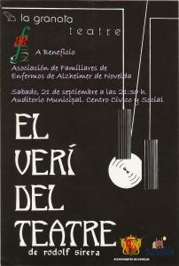 """Ayuntamiento de Novelda 2013-09-21-CARTEL-TEATRE-EL-VERI-DEL-TEATRE-202x300 Teatro """" El verí del teatre """", a cargo de  La Granota Teatre, en el Auditorio Municipal Centro Cívico y Social."""