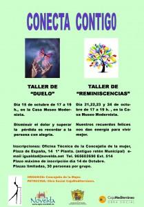 """Ayuntamiento de Novelda 2013-10-15-CARTEL-TALLERES-CASA-MUSEO-JPEG-209x300 Taller de """"Duelo"""", en la Casa Museo Modernista. Organizado por la Concejalía de la Mujer."""