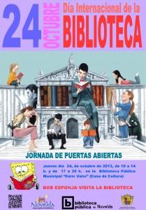 Ayuntamiento de Novelda 2013-10-24-CARTEL-DIA-BIBLIOTECAS-JPEG-209x300 Jornada de puertas abiertas con motivo del Día Internacional de la Biblioteca