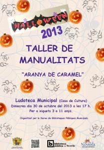 """Ayuntamiento de Novelda 2013-10-30-TALLER-DE-MANUALIDADES-JPEG-209x300 Taller  de Halloween """" Araña de caramelo"""", en la Ludoteca Pública   Municipal  (Casa  de  Cultura)."""