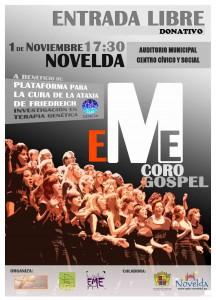 Ayuntamiento de Novelda 2013-11-01-CARTEL-CONCIETO-CORO-GOSPEL-216x300 Concierto, a cargo del Coro Gospel Eme, en el Auditorio Municipal Centro Cívico y Social.