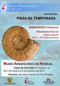"""Ayuntamiento de Novelda Cartel-Pieza-Temporada-Museo-Arq-Novelda-BResol-212x300 Exposición, en el Museo Arqueológico de Novelda (Casa de Cultura), """"Pieza de Temporada"""" con motivo del 30º Aniversario su creación."""