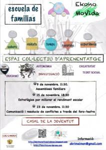 Ayuntamiento de Novelda 2013-11-09-cartell-escola-familia-212x300 Estrategias para mejorar el rendimiento escolar para estudiantes y familiares, en el Casal de la Joventut.