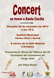Ayuntamiento de Novelda 2013-11-30-CARTELL-CONCERT-SANTA-CECILIA-JPEG-209x300 Concierto en honor a Santa Cecilia, en el Auditorio Municipal Centro Cívico y Social.