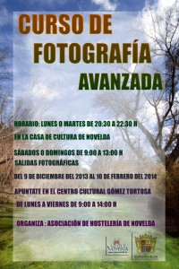 Ayuntamiento de Novelda 2013-12-09-CARTEL-RAMIRO-200x300 Inicio del curso  de fotografía avanzada, en la Casa de Cultura.