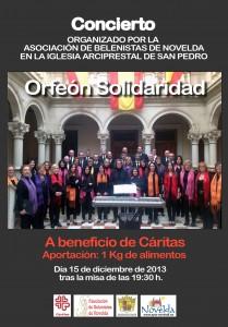 Ayuntamiento de Novelda 2013-12-15-CARTEL-CONCIERTO-BELENISTAS-JPEG-209x300 Concierto a beneficio de Cáritas, en la Parroquia de San Pedro.