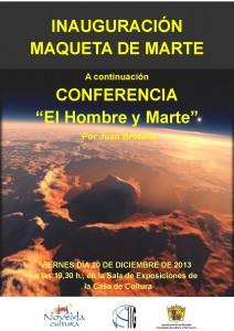 Ayuntamiento de Novelda 2013-12-20-CARTEL-MAQUETA-DE-MARTE-212x300 Presentación de la maqueta de Marte y Conferencia,  en la Casa de Cultura.