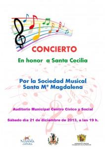 Ayuntamiento de Novelda 2013-12-21-CARTEL-CONCIERTO-HONOR-SANTA-CECILIA-JPEG-212x300 Concierto en honor a Santa Cecilia,  en el Auditorio Municipal Centro Cívico y Social.