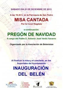 Ayuntamiento de Novelda 2013-12-21-CARTEL-MISA-CANTADA-JPEG-212x300 Misa cantada, Pregón de Navidad