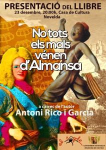 """Ayuntamiento de Novelda XarradaAlmansa-212x300 Presentación del libro """"No tots els mals vénen d'Almansa"""", de Toni Rico,  en la Casa de Cultura."""