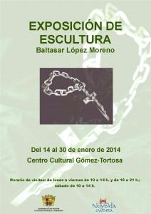 Ayuntamiento de Novelda 2014-01-14-CARTEL-EXPOSICION-DE-ESCULTURA-JPEG-212x300 Exposición de escultura, de Baltasar López Moreno, en el Centro Cultural Gómez-Tortosa.