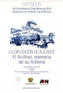 """Ayuntamiento de Novelda 2014-02-05-cartel-exposicion-diputacion-205x300 Exposición """"El Archivo, memoria de su historia"""", en la Casa de Cultura."""