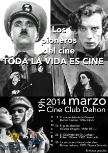 """Ayuntamiento de Novelda 2014-03-09-CARTEL-PIONEROS-CINE-212x300 Proyección de la película """"El gabinete del doctor Caligari"""", en el cine Club Dehon."""
