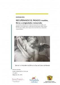 """Ayuntamiento de Novelda 2014-04-01-CARTEL-EXPOSICION-RECUPERANDO-EL-PASADO-212x300 Exposición: """"Recuperando el pasado: muebles, libros y antigüedades restauradas"""", en la Casa de Cultura."""