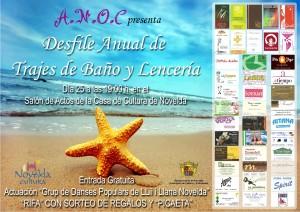 Ayuntamiento de Novelda 2014-04-25-CARTEL-DESFILE-BANADORES-ANOC-300x212 Desfile de  bañadores de ANOC,  en el salón de actos de la  Casa  de  Cultura.