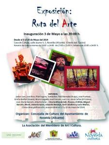 """Ayuntamiento de Novelda 2014-05-03-CARTEL-EXPOSICION-DE-ARTE-225x300 Exposición de pintura, dibujo, escultura y obra gráfica """"Ruta del Arte"""", en la Casa de Cultura."""