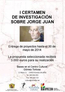 Ayuntamiento de Novelda CARTEL-I-CERTAMEN-SOBRE-JORGE-JUAN-212x300 I certamen de investigación sobre Jorge Juan dotado con 3.000 euros para el proyecto seleccionado.